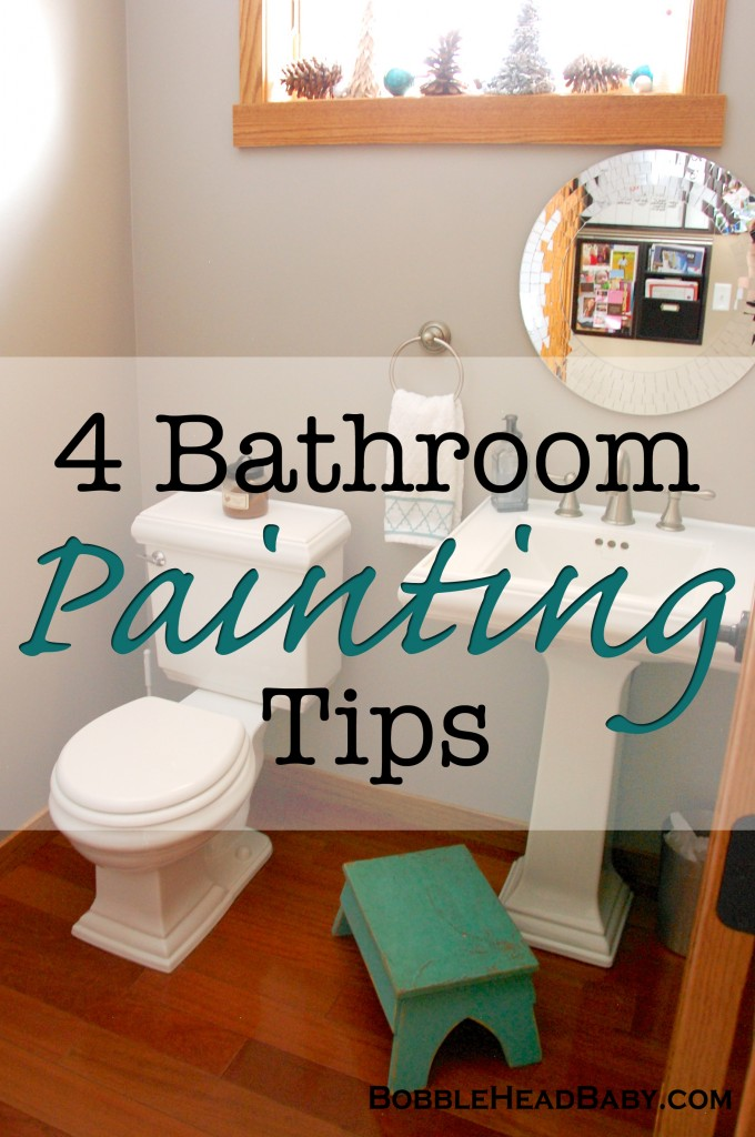 4 Simple Tips for Painting a Bathroom