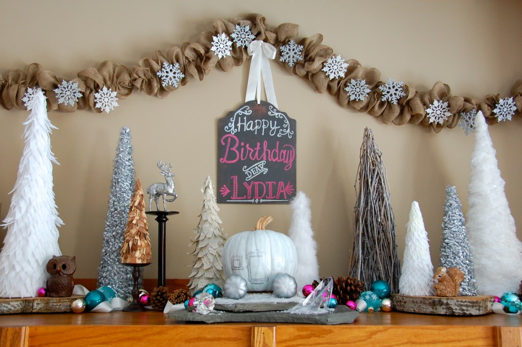 princess party mantel