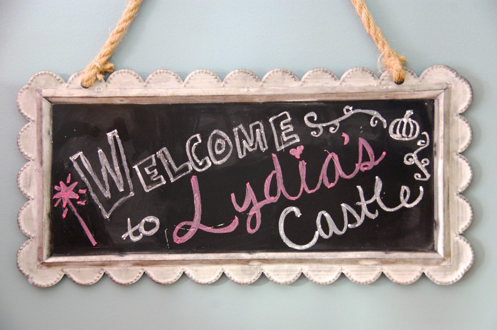 princess party chalkboard