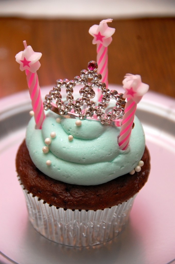 princess birthday cupcake