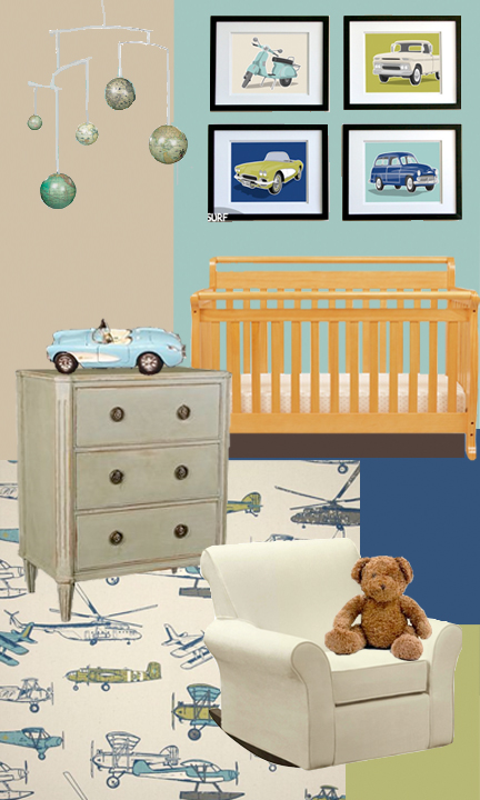 Baby Boy Transportation Travel Room Nursery