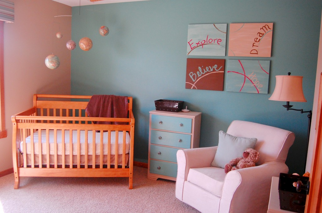 Nursery Sherwin Williams Composed Globe Mobile