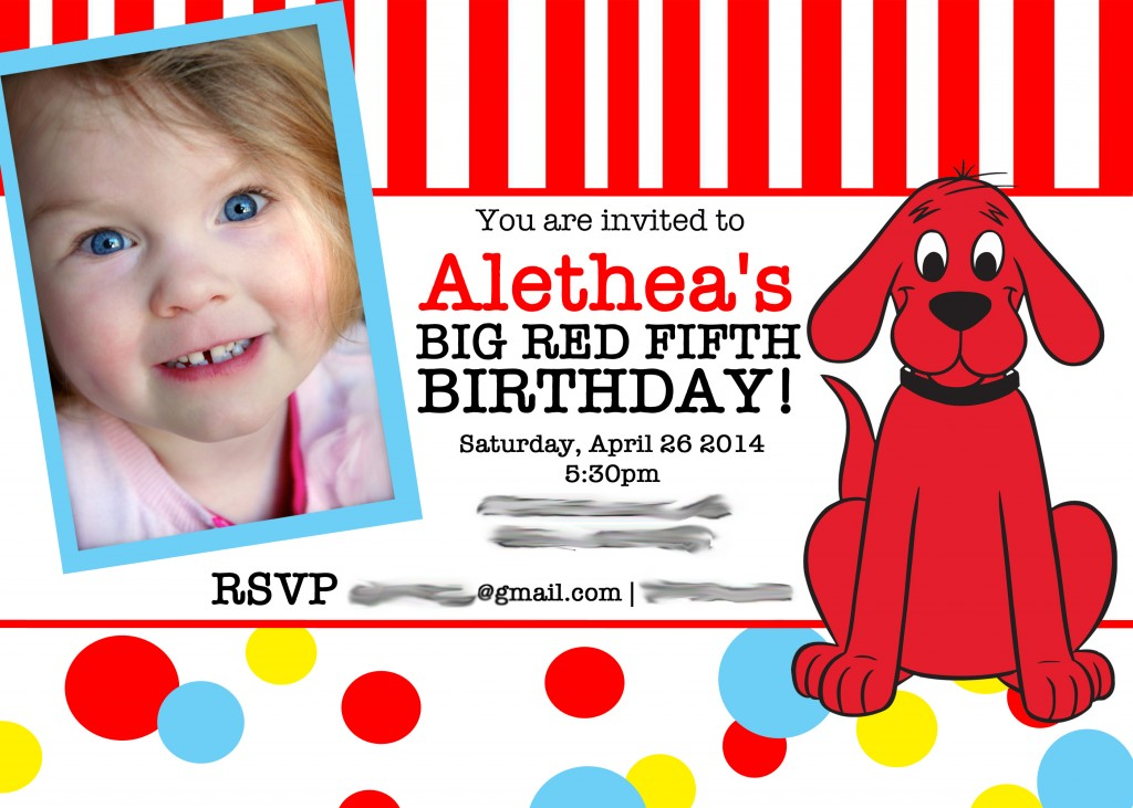 Clifford Party Invitation copy 2