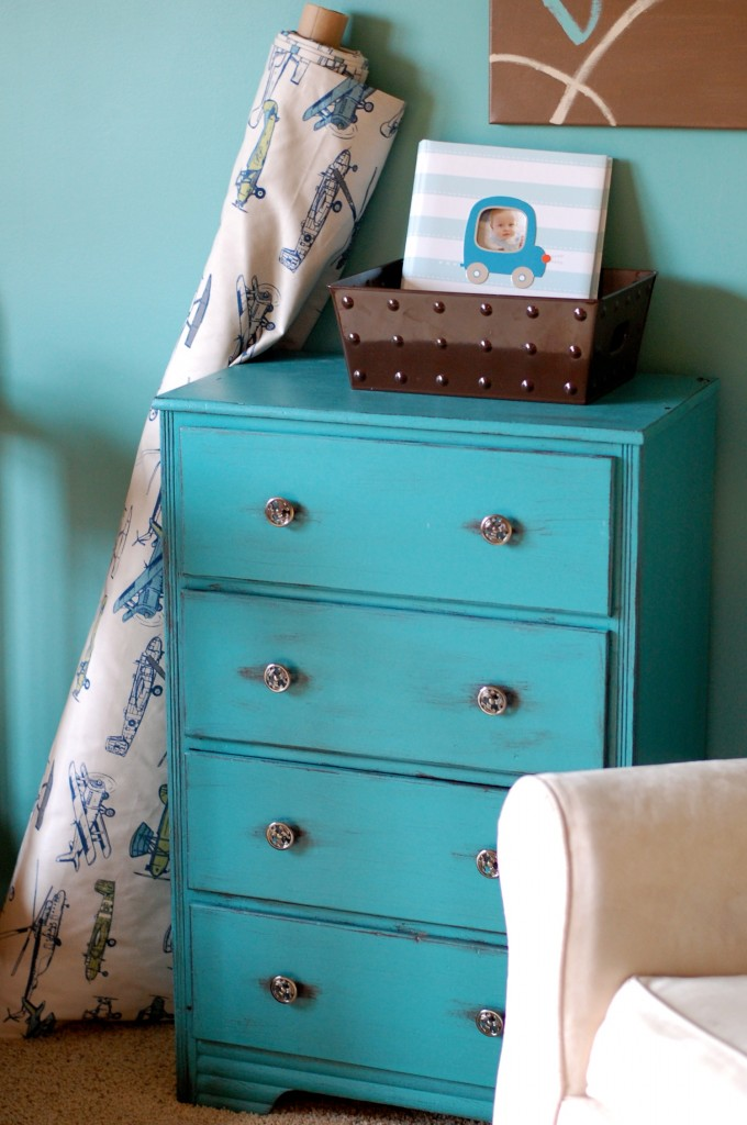 Dresser in Sherwin Williams Lagoon