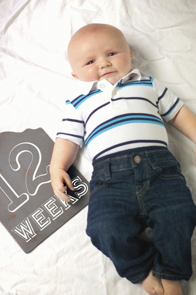 Caleb 12 Weeks