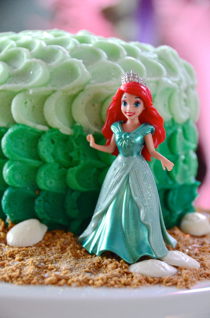 Ariel on a Little Mermaid Birthday Cake