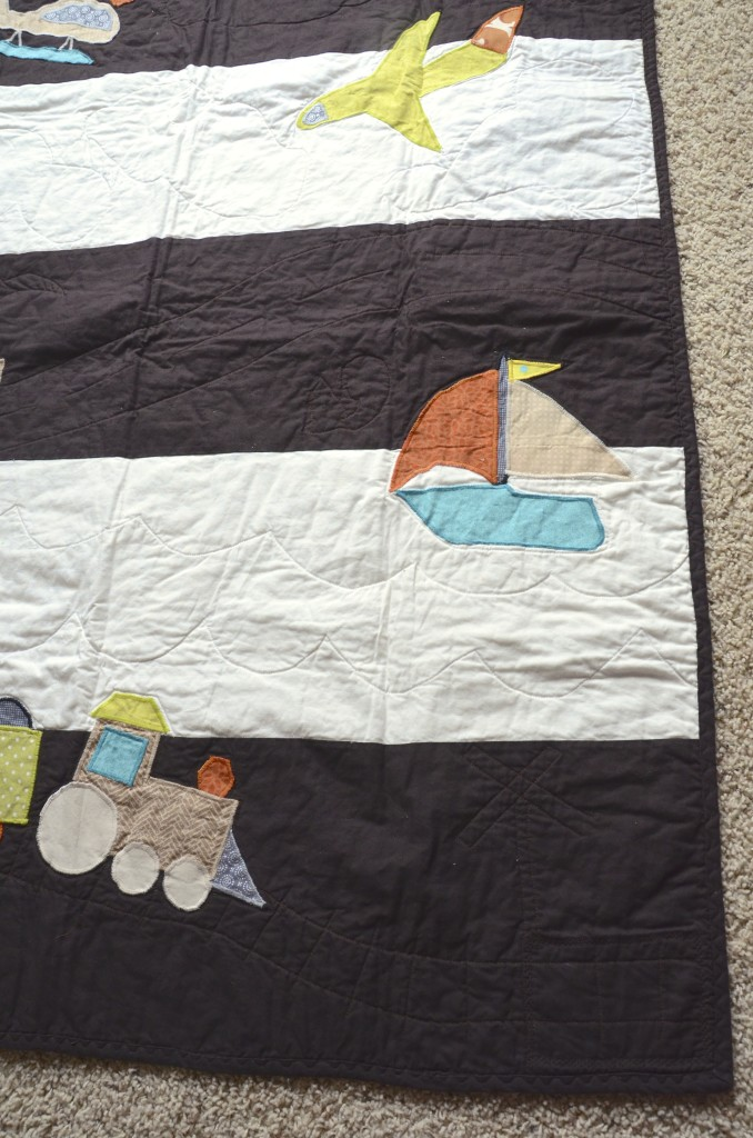 transportation quilt detail